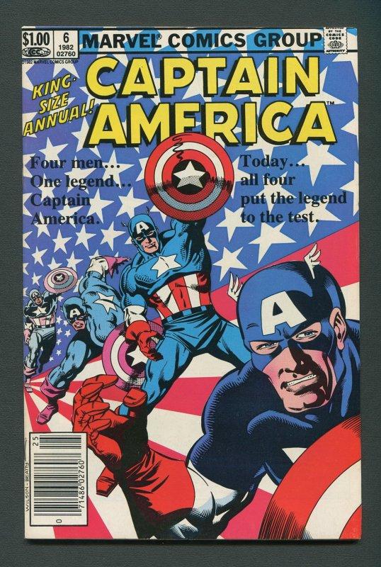 Captain America Annual #6  / 8.0 VFN  1982