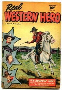 Real Western Hero #70 1948-TOM MIX-MONTE HALL-HOPALONG VG