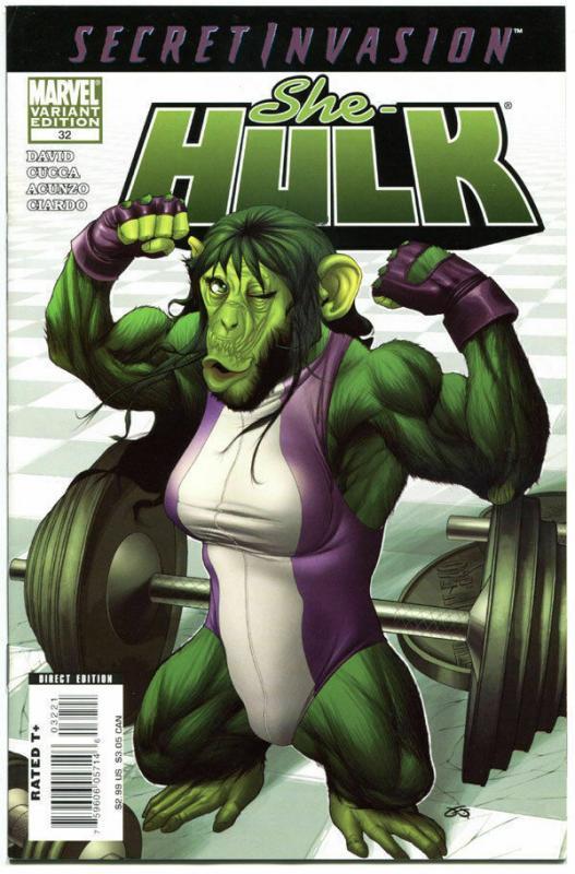 SHE-HULK #32, VF, Variant , Secret Invasion, monkey,  more in store