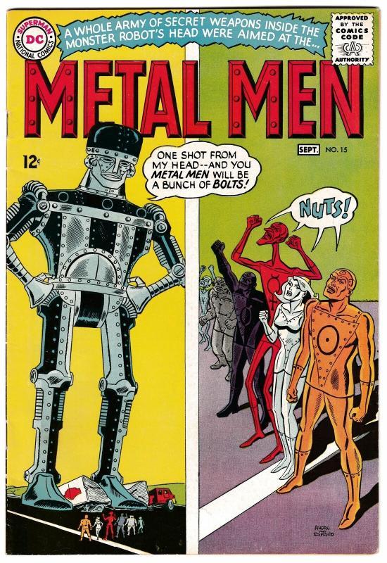 Metal Men #15 Revenge Of The Rebel Robot (DC, 1965) FN