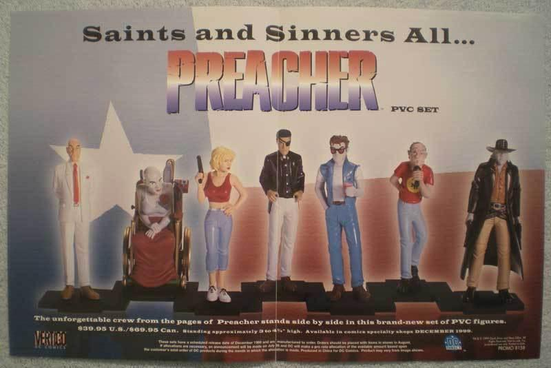 PREACHER PVC SET Promo poster,  17x11, 1999, Unused, more Promos in store