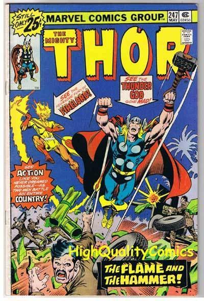 THOR #247, FN+, God of Thunder, Buscema, FireLord, 1966, more Thor in store