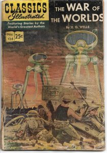 Classics Illustrated  War of the Worlds 124 HRN 166 - Golden Age - 1968 (G)