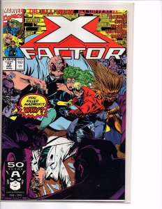 Marvel Comics X-Factor Vol. 1 #72 NM 1st App. Vic Chalker Stroman Cover & Art