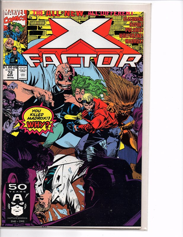 Marvel Comics X-Factor Vol. 1 #72 NM 1st App. Vic Chalker Stroman Cover & Art
