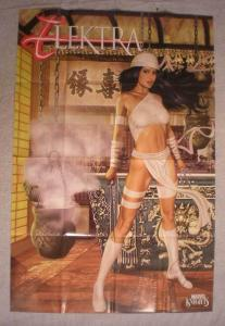 ELEKTRA Promo Poster, Signed by Greg Horn, 2003, Unused, more in our store