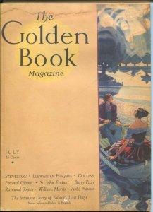 Golden Book 7/1931-Bedsheet format pulp magazine-Leo Tostoi-Raymond Spears-G/VG