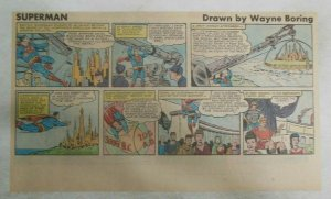 Superman Sunday Page #1158 by Wayne Boring from 12/24/1961 Size ~7.5 x 15 inches