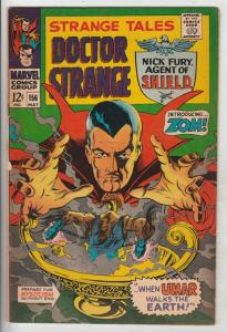 Strange Tales #156 (May-67) FN- Mid-Grade Nick Fury, Dr. Strange