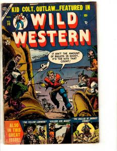 Wild Western # 30 VG/FN Golden Age Comic Book Kid Colt Outlaw Yellow Lawman JL17