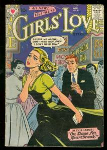 GIRLS LOVE STORIES #50 1957-DC ROMANCE-NITE CLUB COVER VG