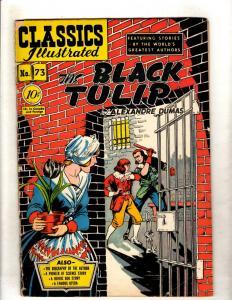 Classics Illustrated 73 HRN75 VG Gilberton Comic Book Man Black Tulip DUMAS JL26