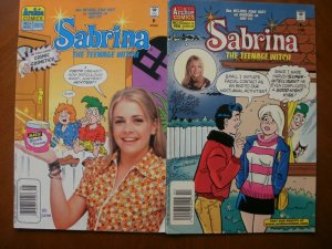 2 Archie Comics SABRINA THE TEENAGE WITCH Comic #4 (1997) #10 (1998) Hart