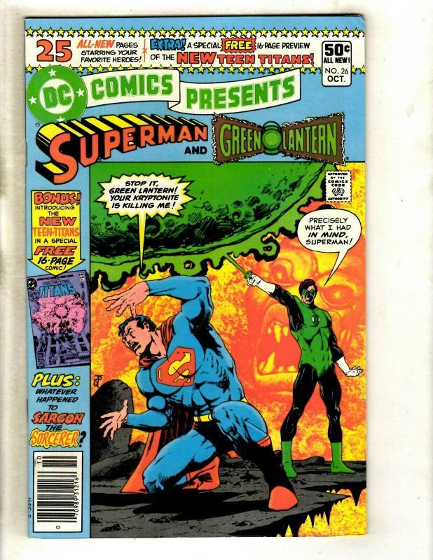 DC Comics Presents # 26 NM- Feat. Superman Teen Titans Comic Book Batman GK5