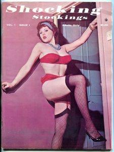 Shocking Stockings Magazine #1 1963- Wild cheesecake- rare- Bettie Page ads