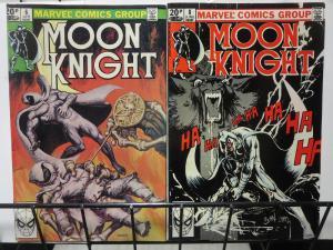 Moon Knight (Marvel 1980) #6 + 8 UK Pence ed Marc Spector Super-Investigator