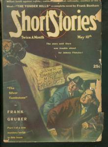 SHORT STORIES PULP 1945 MAY 10 GRUBER KJELGAARD MYSTERY VG