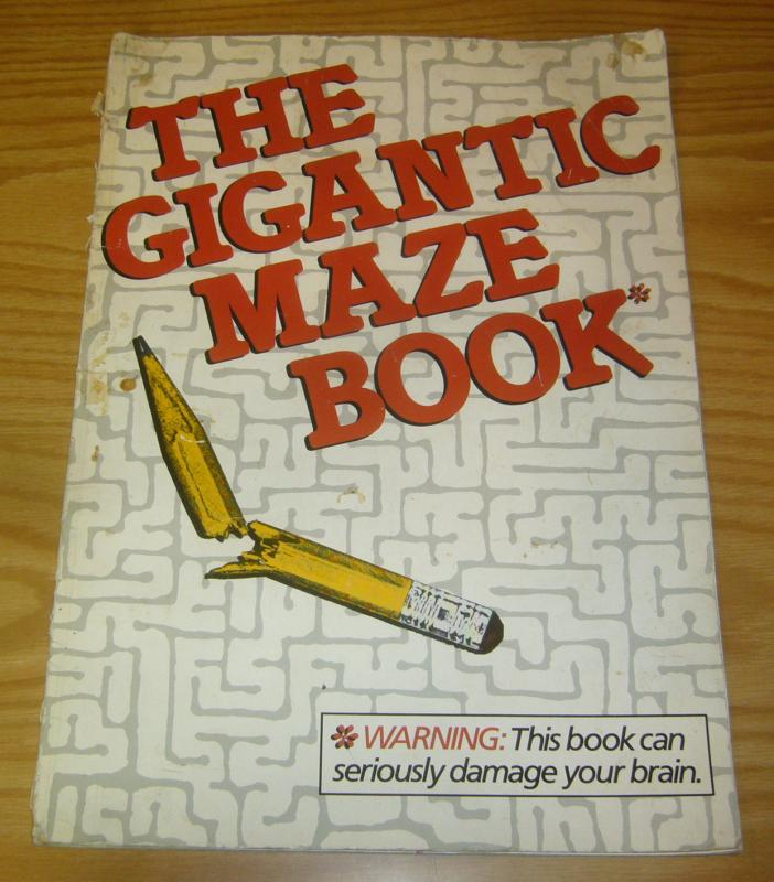 Gigantic Maze Book - harmony books 1987 - no pen marks - heavy wear