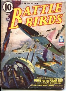 "BATTLE BIRDS-1943 JULY-HERO PULP-CAPTAIN ""V"" APPEARS-DAVID GOODIS STORY"