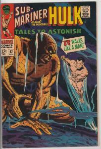 Tales to Astonish #92 (Jun-67) NM- High-Grade Incredible Hulk, Namor