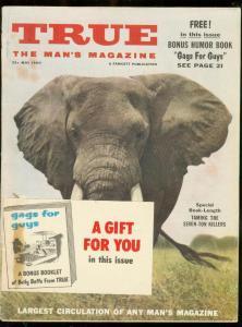TRUE MAGAZINE MAY 1960-TOM LOVELL-BASEBALL-ROBOT ART    VG