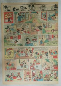 Mickey Mouse Sunday Page by Walt Disney from 9/30/1945 Tabloid Page Size
