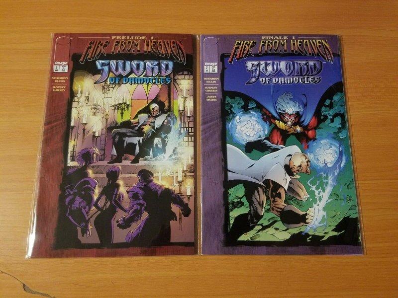 Sword of Damocles 1-2 Complete Set Run! ~ NEAR MINT NM ~ 1996 Image Comics