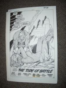 CURT SWAN ORIGINAL ART AQUAMAN #3 PAGE 22-SPLASH PAGE FN