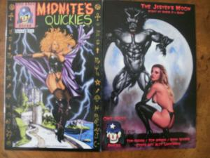 2 ONE SHOT PRESS Comic Book: MIDNITE'S QUICKIES #2 THE JESTER'S MOON