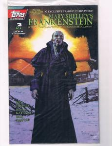 Mary Shelley's Frankenstein #2 VF/NM Topps Comic Books Sealed In Bag W Cards SW7