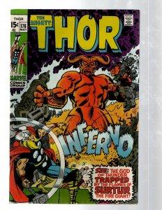 Mighty Thor # 176 VF Marvel Comic Book Loki Odin Asgard Sif Avengers Hulk RB8