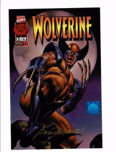 Wolverine # 102.5 VF Wizard Promo Variant SIGNED By Boris Vallejo WITH COA J121