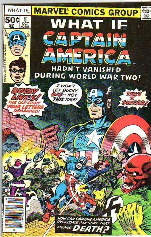 What If #5 (Oct-77) NM- High-Grade Captain America, Bucky Barnes