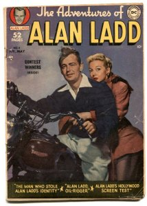 Adventures Of Alan Ladd #4 1950- Triumph motorcycle cover VG