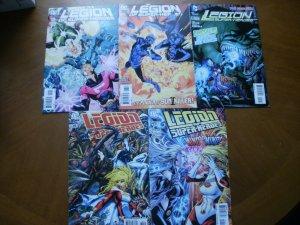 5 Near-Mint DC Comic: LEGION OF SUPER-HEROES #12 #13 (2011) #15 (New 52) #38 #49