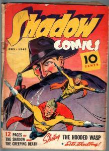 SHADOW COMICS #7-1940-HORATIO ALGER-NICK CARTER-GOLDEN AGE-G plus G+