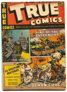 True Comics #52 1946- Diesel- Bernard Baruch VG