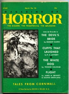 MAGAZINE OF HORROR-BIZARRE-GRUESOME--PULP-SEABURY QUINN--#26-MAR 1969
