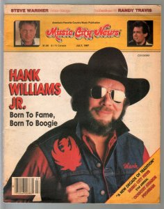Music City News 7/1987=Hank Williams Jr-Randy Travis-Steve Wariner-FN