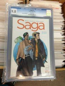 Saga 1 1st Print CGC 9.8 Universal