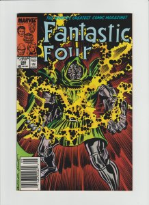 Fantastic Four #330 NM- Copper Age Newsstand Variant! Great Doctor Doom Cover!!