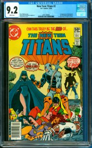 New Teen Titans #2 CGC Graded 9.2 1st appearance of Deathstroke