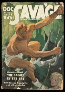 DOC SAVAGE DEC 1939-DAGGER N THE SKY-JUNGLE-BILL BARNES G/VG
