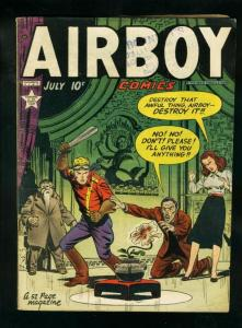 AIRBOY COMICS v.6 #6 1949-HEAP ORIGIN-MCWILLIAMS STORY- VG-