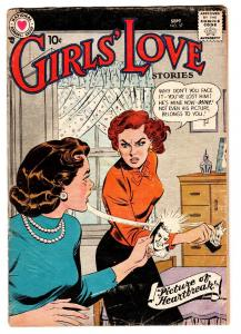 Girls' Love Stories #57 1958 DC Romance- Fight cover COMIC BOOK