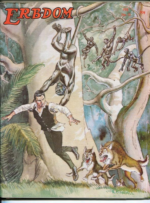 ERB-dom #15 1966-Edgar Rice Burroughs & Tarzan fanzine-Reed Crandall-Krenkel-VF
