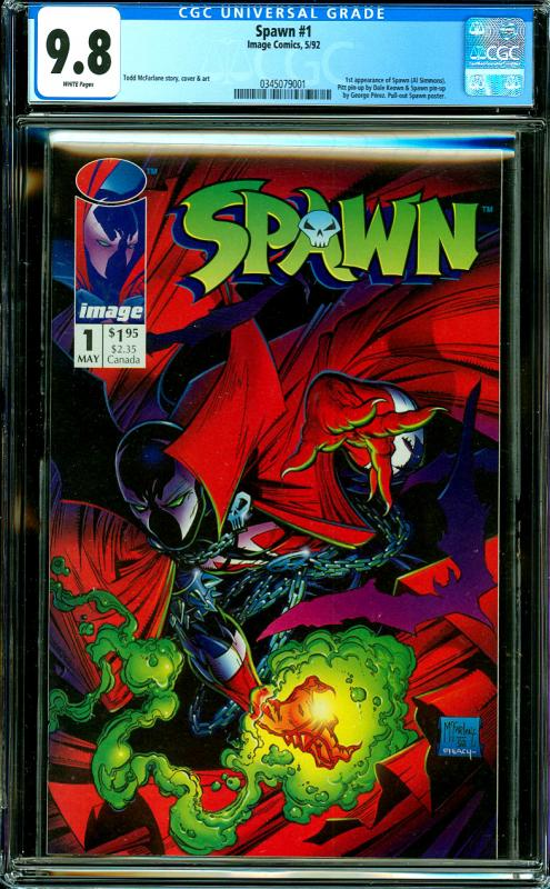 Spawn #1 CGC Graded 9.8 1st Appearance of Spawn, Pull-Out Spawn Poster