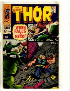 Thor # 149 FN Marvel Comic Book Loki Odin Sif Avengers Hulk Iron Man GK4