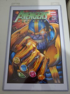 THANOS PRINT SIGNED BY MARK BAGLEY W/COA
