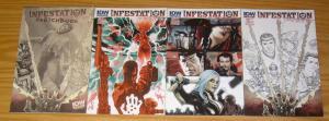 Infestation #1-2 VF/NM complete series + variant + sketchbook - ghostbusters